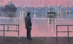 Across to the Other Side by Kevin Day -  sized 16x10 inches. Available from Whitewall Galleries